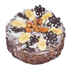 Muzlu çikolatali yas pasta 4 ile 6 kisilik   Aydın incir çiçek uluslararası çiçek gönderme
