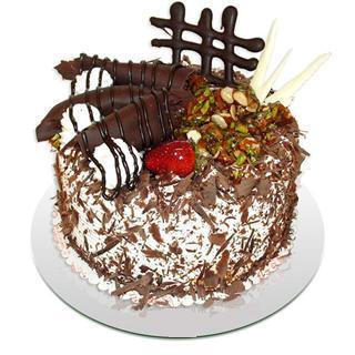4 ile 6 kisilik çikolatali yas pasta  Aydın incir çiçek kaliteli taze ve ucuz çiçekler