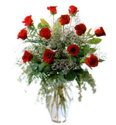 Vazo içerisinde 11 kirmizi gül  Aydın incir çiçek çiçek siparişi vermek