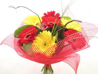 9 adet gerbera çiçeklerinden buket  Aydın incir çiçek çiçek satışı