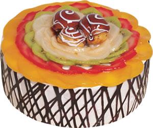 pasta siparisi 4 ile 6 kisilik meyvali yas pasta  Aydın incir çiçek çiçek satışı