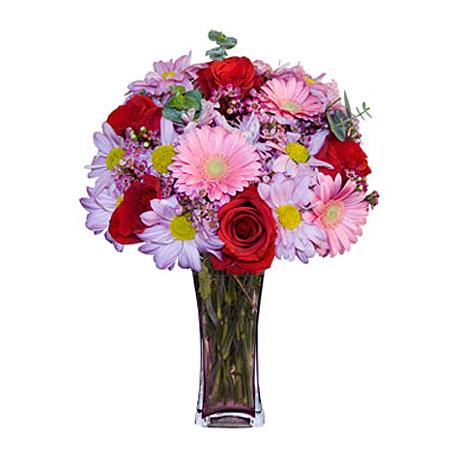 Görsel hediye karisik cam mevsim demeti  Aydın incir çiçek çiçekçi mağazası
