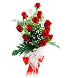 11 adet kirmizi güllerden görsel sölen buket  Aydın incir çiçek çiçek siparişi vermek