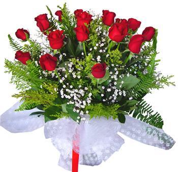 11 adet gösterisli kirmizi gül buketi  Aydın incir çiçek internetten çiçek satışı