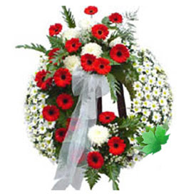 Cenaze çelengi cenaze çiçek modeli  Aydın incir çiçek uluslararası çiçek gönderme
