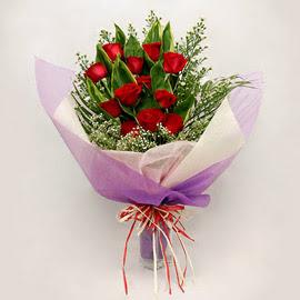 çiçekçi dükkanindan 11 adet gül buket  Aydın incir çiçek çiçekçi mağazası