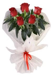 5 adet kirmizi gül buketi  Aydın incir çiçek çiçekçiler