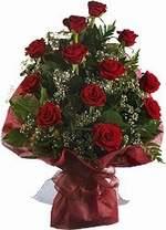 Aydın incir çiçek çiçekçiler  9 Adet kirmizi gül buketi