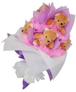 9 adet ayiciktan buket  Aydın incir çiçek hediye sevgilime hediye çiçek