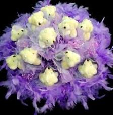 11 adet pelus ayicik buketi  Aydın incir çiçek çiçek , çiçekçi , çiçekçilik