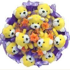 11 adet pelus ayicik buketi  Aydın incir çiçek çiçek mağazası , çiçekçi adresleri