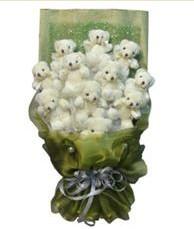 11 adet pelus ayicik buketi  Aydın incir çiçek online çiçek gönderme sipariş