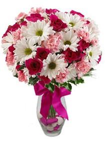 Aydın incir çiçek çiçek siparişi sitesi  Karisik mevsim kir çiçegi vazosu