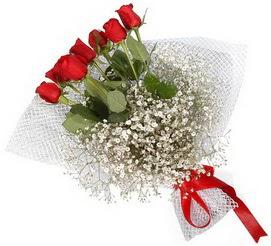 7 adet essiz kalitede kirmizi gül buketi  Aydın incir çiçek hediye sevgilime hediye çiçek
