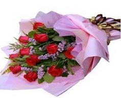 11 adet kirmizi güllerden görsel buket  Aydın incir çiçek çiçek gönderme sitemiz güvenlidir
