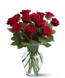 Aydın incir çiçek çiçek gönderme sitemiz güvenlidir  cam yada mika vazoda 10 kirmizi gül