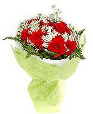Aydın incir çiçek çiçek , çiçekçi , çiçekçilik  7 adet kirmizi gül buketi tanzimi