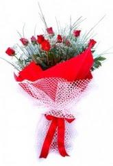 Aydın incir çiçek incir çiçek İnternetten çiçek siparişi  9 adet kirmizi gül buketi demeti