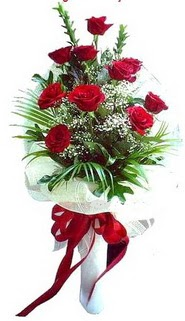 Aydın incir çiçek ucuz çiçek gönder  10 adet kirmizi gül buketi demeti