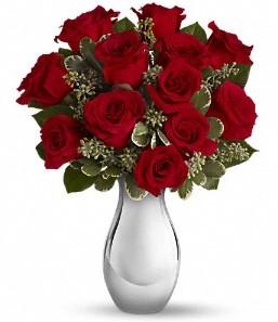 Aydın incir çiçek çiçek siparişi vermek   vazo içerisinde 11 adet kırmızı gül tanzimi
