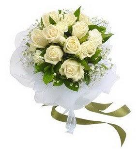 Aydın incir çiçek online çiçekçi , çiçek siparişi  11 adet benbeyaz güllerden buket