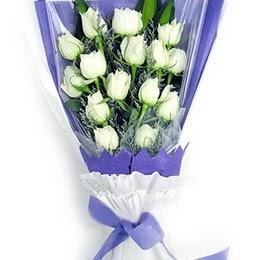 Aydın incir çiçek çiçekçi mağazası  11 adet beyaz gül buket modeli