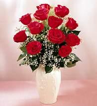 Aydın incir çiçek çiçekçi mağazası  9 adet vazoda özel tanzim kirmizi gül