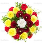 Aydın incir çiçek çiçekçi mağazası  13 adet mevsim çiçeğinden görsel buket