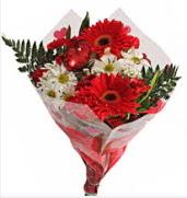 Mevsim çiçeklerinden görsel buket  Aydın incir çiçek çiçekçiler