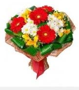 1 demet karışık buket  Aydın incir çiçek hediye sevgilime hediye çiçek