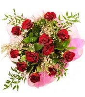 12 adet kırmızı gül buketi  Aydın incir çiçek 14 şubat sevgililer günü çiçek