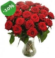 Vazo içerisinde 25 adet kırmızı gül  Aydın incir çiçek cicek , cicekci