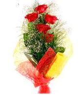 5 li kırmızı gül buketi  Aydın incir çiçek internetten çiçek satışı