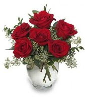 Vazo içerisinde 5 adet kırmızı gül  Aydın incir çiçek çiçekçi mağazası