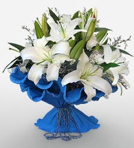 4 dal kazablanka çiçeğinden buket  Aydın incir çiçek cicek , cicekci