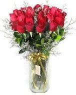 27 adet vazo içerisinde kırmızı gül  Aydın incir çiçek incir çiçek İnternetten çiçek siparişi