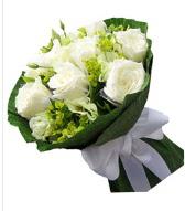 9 adet beyaz gül buketi  Aydın incir çiçek çiçek siparişi sitesi