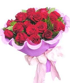 12 adet kırmızı gülden görsel buket  Aydın incir çiçek çiçekçi mağazası