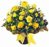 Aydın incir çiçek çiçek , çiçekçi , çiçekçilik  Sari gül karanfil ve kir çiçekleri