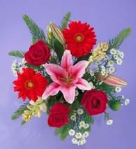 Aydın incir çiçek ucuz çiçek gönder  Gerbera gül ve lilyum buketi