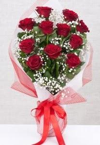 11 kırmızı gülden buket çiçeği  Aydın incir çiçek 14 şubat sevgililer günü çiçek