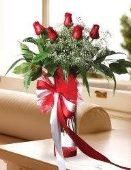 Camda 5 kırmızı gül tanzimi  Aydın incir çiçek çiçekçi telefonları