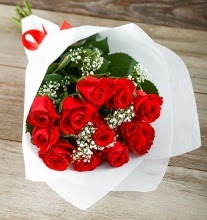 9 kırmızı gülden buket çiçeği  Aydın incir çiçek çiçek gönderme