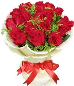 19 adet kırmızı gülden buket tanzimi  Aydın incir çiçek çiçek servisi , çiçekçi adresleri