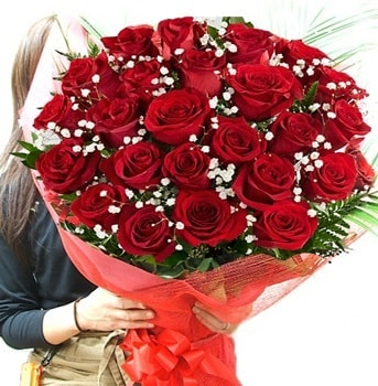 Kız isteme çiçeği buketi 33 adet kırmızı gül  Aydın incir çiçek çiçek gönderme sitemiz güvenlidir