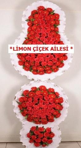 3 katlı kırmızı düğün açılış çiçeği  Aydın incir çiçek çiçek gönderme
