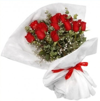 9 adet kırmızı gül buketi  Aydın incir çiçek çiçekçi mağazası