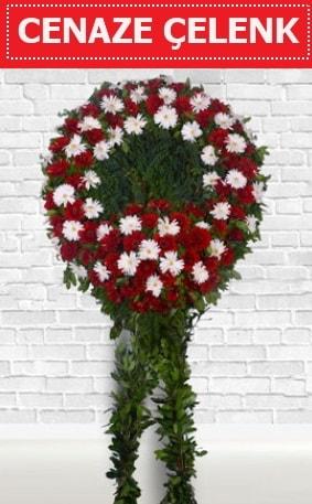 Kırmızı Beyaz Çelenk Cenaze çiçeği  Aydın incir çiçek incir çiçek İnternetten çiçek siparişi