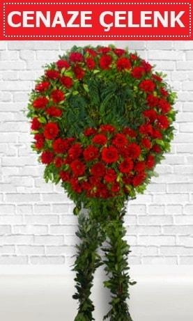 Kırmızı Çelenk Cenaze çiçeği  Aydın incir çiçek incir çiçek İnternetten çiçek siparişi