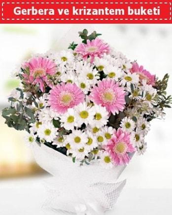 Papatya ve Gerbera Buketi  Aydın incir çiçek çiçek , çiçekçi , çiçekçilik